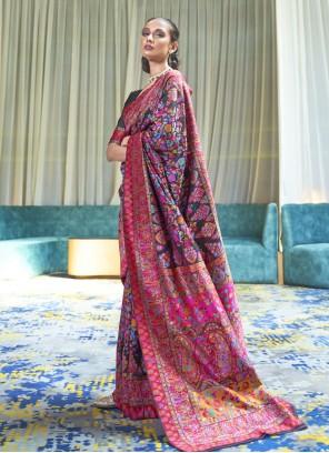 Black Festival Handloom silk Bollywood Saree