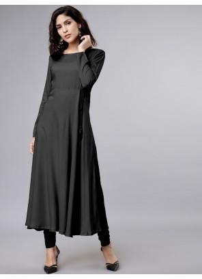 Black Festival Rayon Salwar Suit