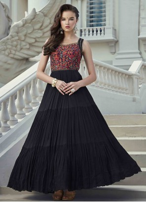 Black Festival Readymade Gown