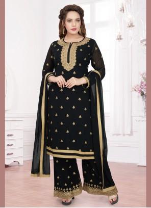 Black Festival Salwar Suit