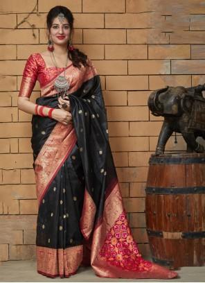 Black Festival Silk Classic Saree