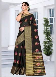 Black Festival Silk Saree