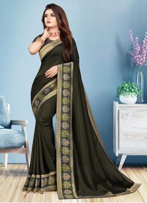 Black Festival Silk Casual Trendy Saree