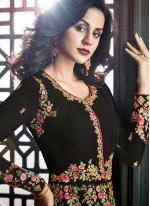 Black Floor Length Anarkali Suit