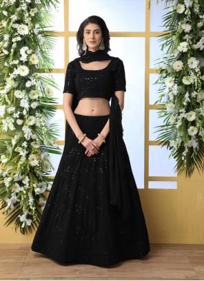 Black Georgette Designer Lehenga Choli