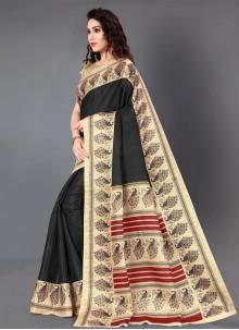 Black Khadi Silk Classic Saree