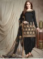 Black Lace Festival Designer Patiala Suit