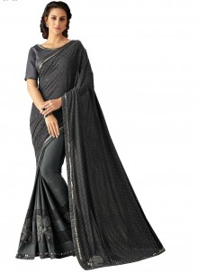 Black Lace Trendy Saree