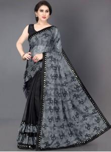Black Mirror Casual Traditional Saree