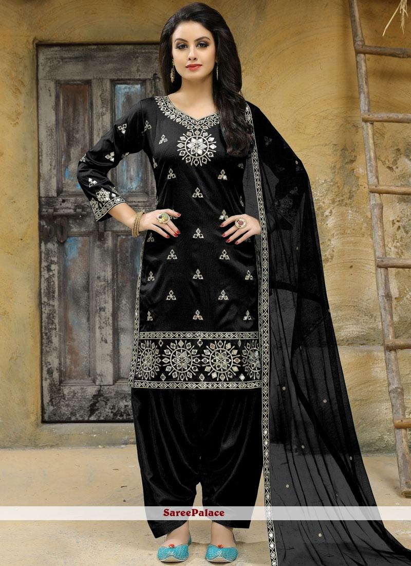 Black Mirror Work Punjabi Suit