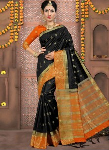 Black Party Classic Designer Saree