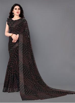 Black Party Designer Saree