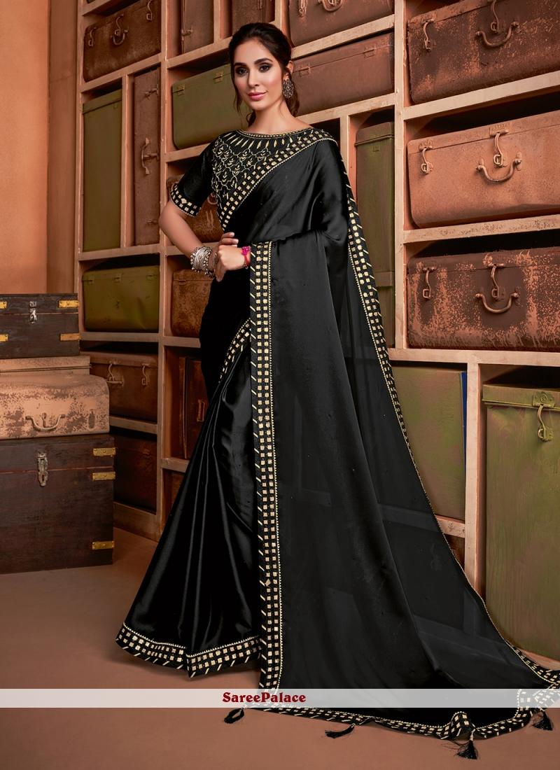 Black Party Silk Bollywood Saree