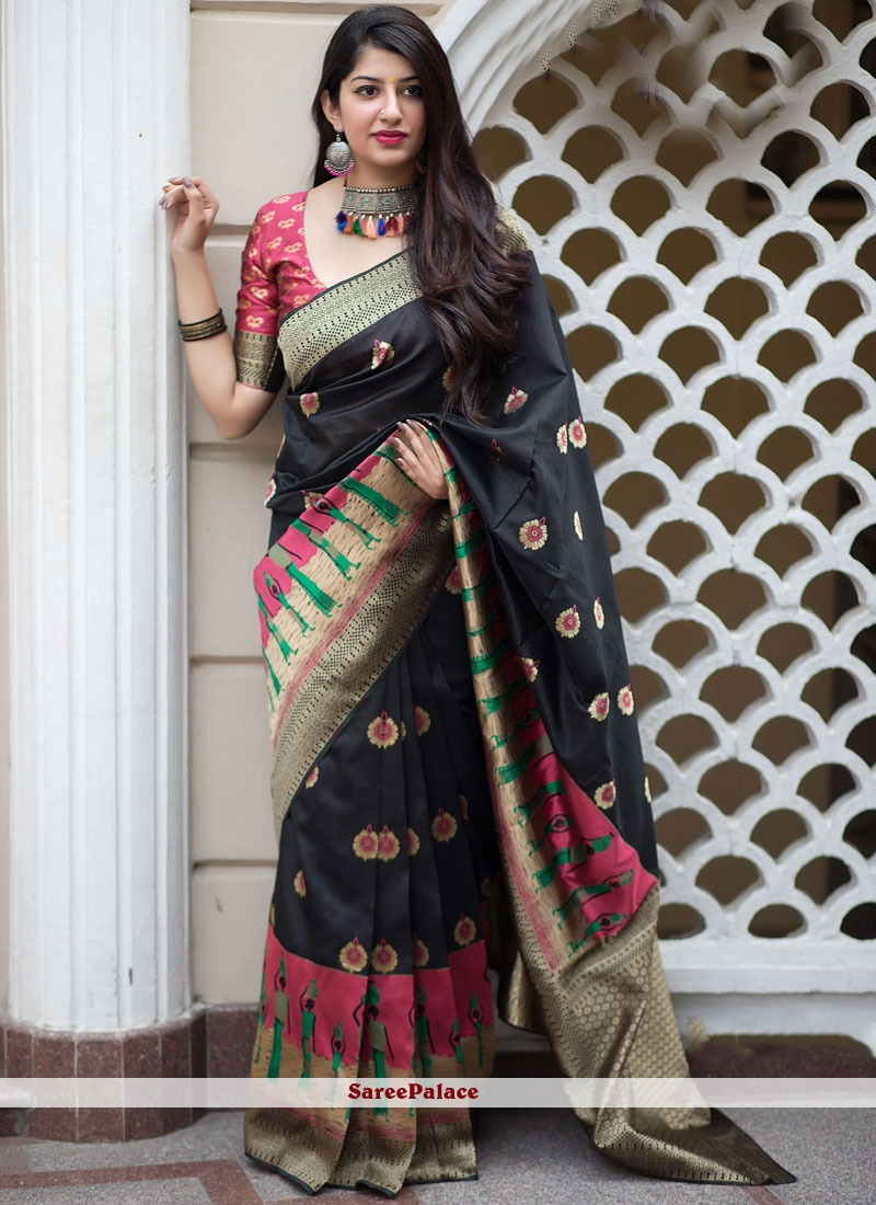Black Party Traditional Saree