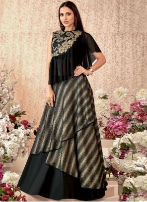 Black Party Trendy Designer Lehenga Choli