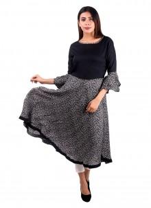 Black Plain Designer Kurti