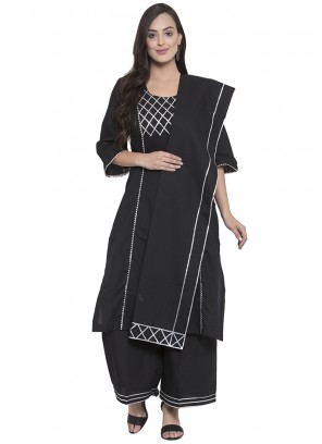 Black Printed Salwar Kameez