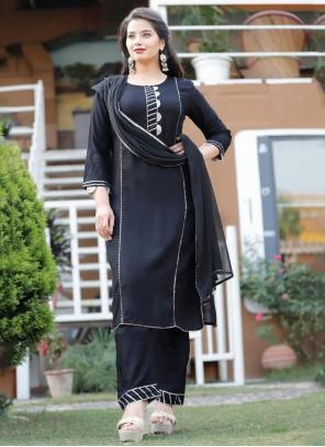 Black Rayon Party Wear Kurti