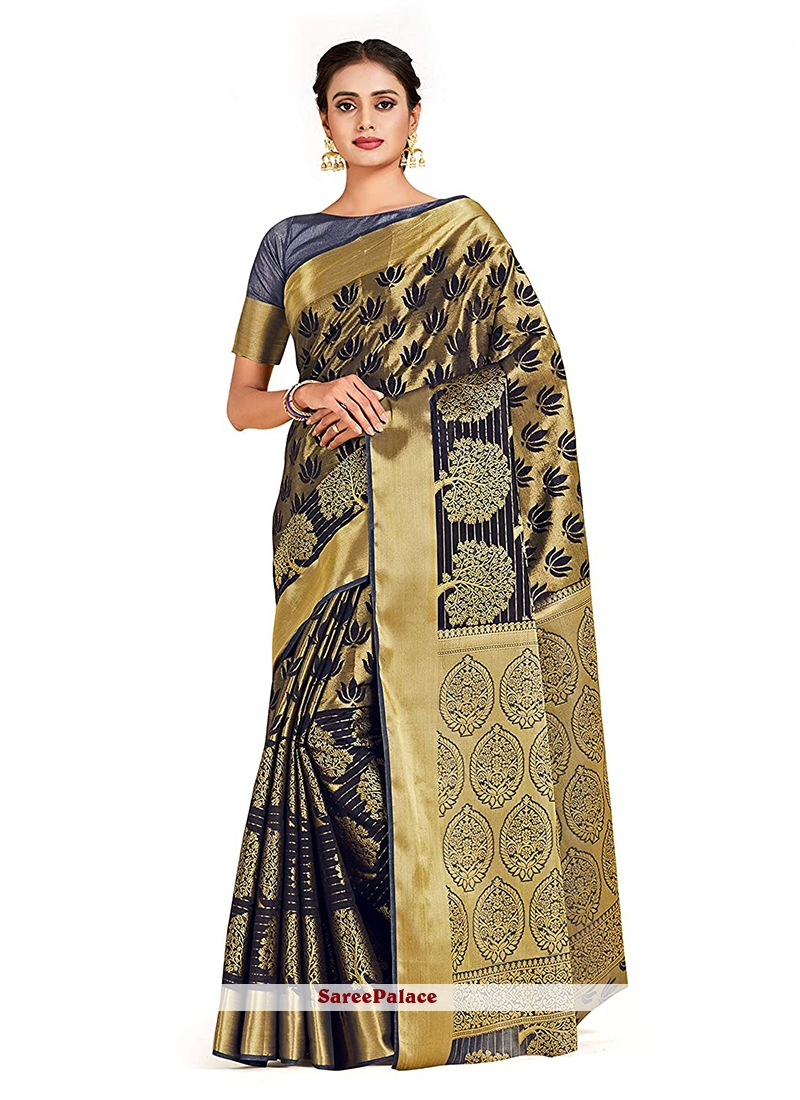 Black Reception Designer Traditional Saree