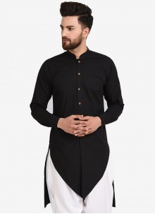 Black Sangeet Cotton Kurta