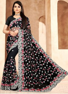 Black Sangeet Designer Saree