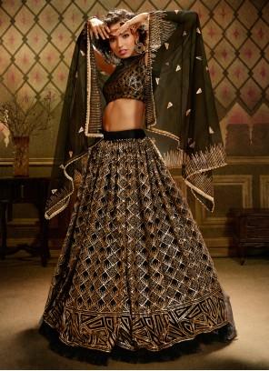 Black Sequins Net Trendy Lehenga Choli