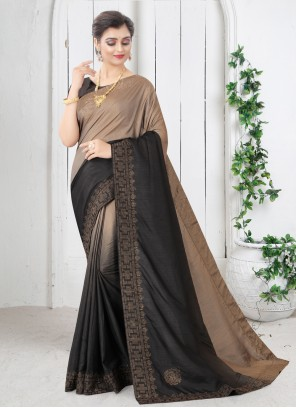 Black Shaded Saree