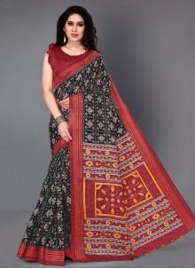 Black Silk Casual Saree