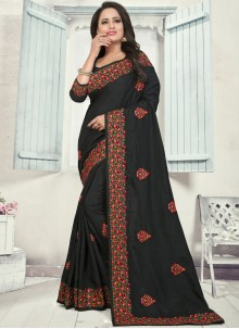 Black Silk Reception Classic Designer Saree