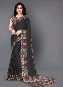 Black Silk Trendy Saree