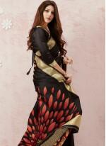 Black Silk Weaving Classic Saree