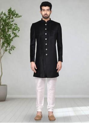 Black Velvet Indo Western Sherwani