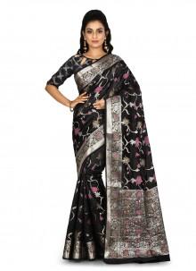 Black Weaving Designer Saree
