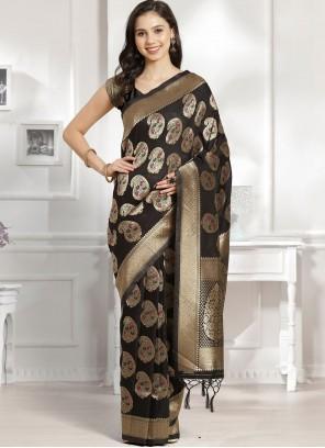 Black Weaving Traditional Designer Saree