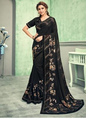Black Wedding Classic Saree