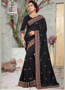 Black Zari Art Silk Designer Traditional Saree