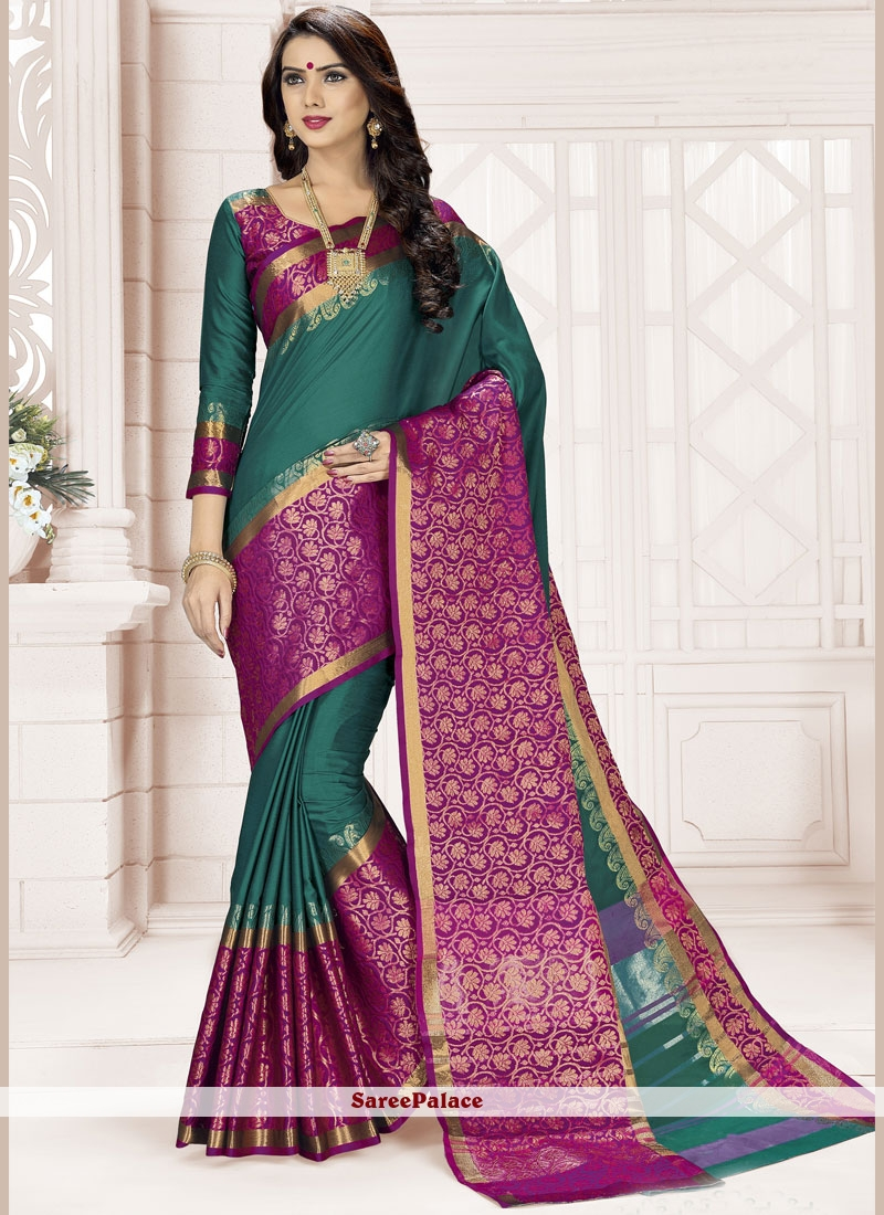 Blended Cotton woven Work Classic Designer Saree