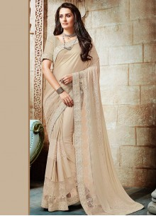 Blissful Cream Classic Designer Saree