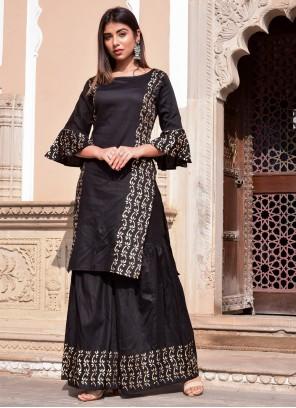 Block Print Jamawar Silk Designer Kurti
