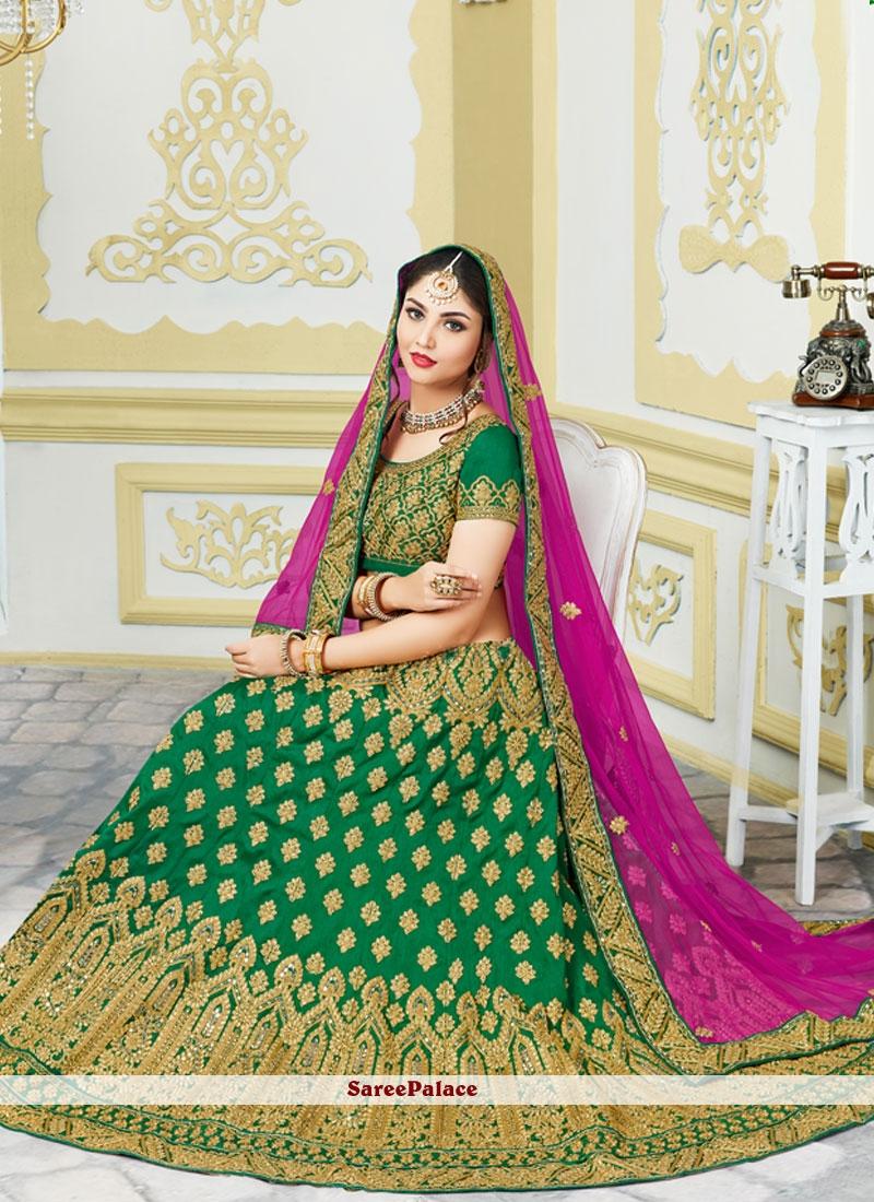 Blooming Bhagalpuri Silk Zari Work Lehenga Choli