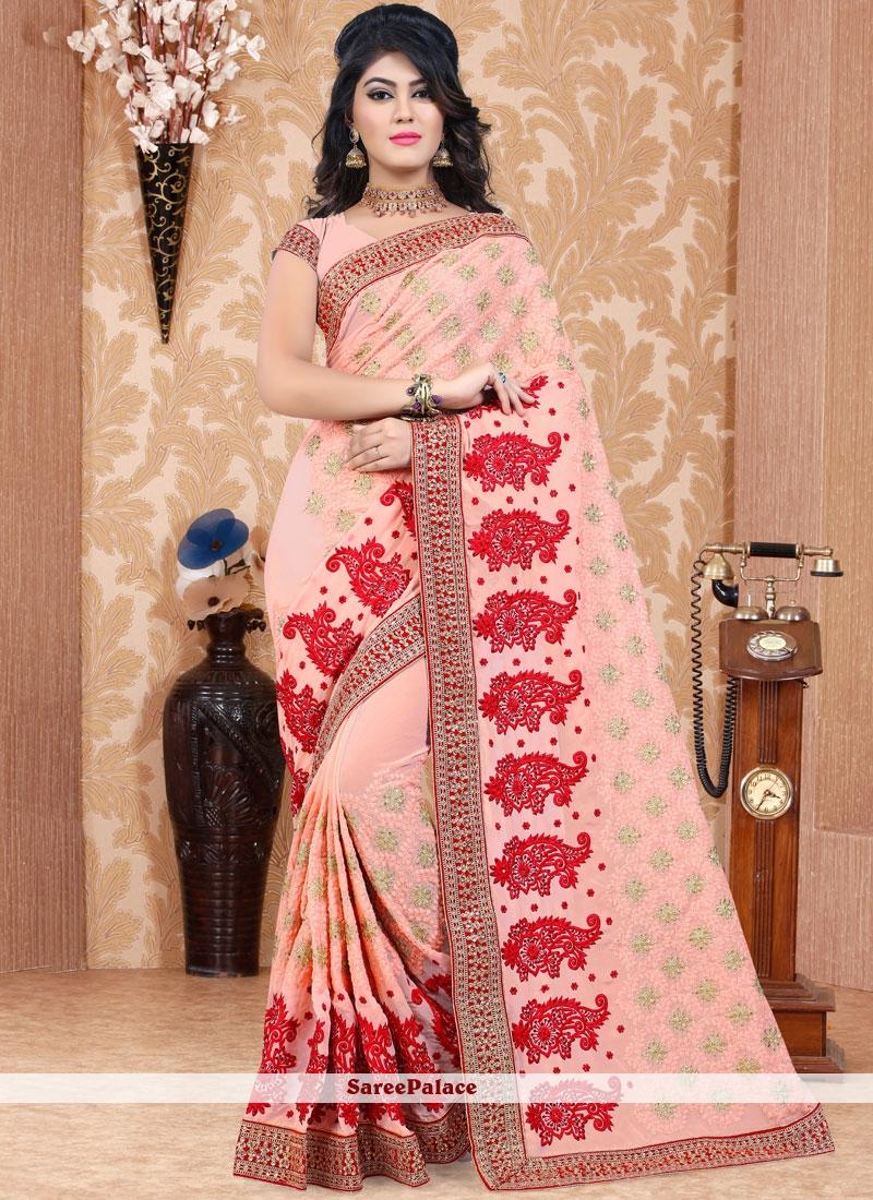 Blooming Designer Saree For Wedding