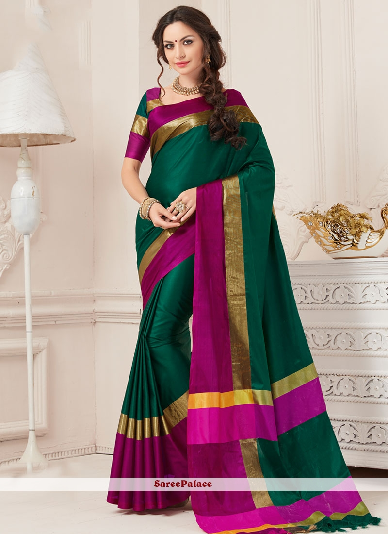 Blooming woven Work Art Silk Traditional  Saree