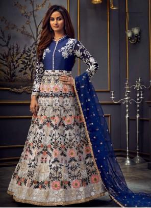 Blue Anarkali Salwar Suit