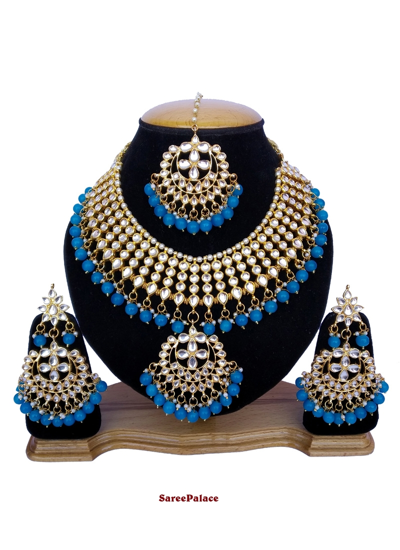 Blue and Gold Ceremonial Necklace Set
