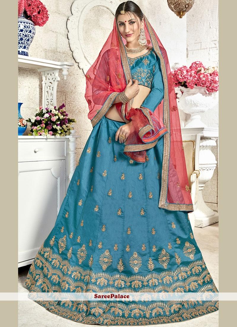 Blue Banglori Silk Designer Lehenga Choli