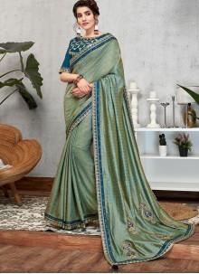 Blue Bridal Art Silk Designer Traditional Saree