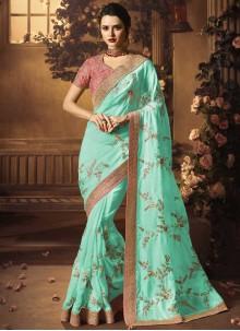 Blue Bridal Designer Traditional Saree