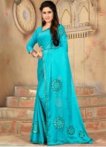 Blue Casual Art Silk Traditional Saree