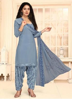 Blue Casual Punjabi Suit