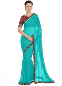 Blue Casual Saree